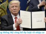"""Tổng thống Mỹ Donald Trump công bố dự luật mới về """"Thẻ Xanh"""" nhập cư"""