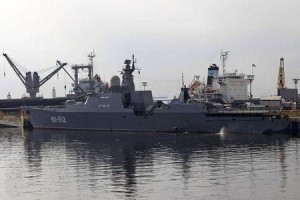 One of the two Vietnam Russian-built missile-guided frigates is seen docked at a bay in Manila